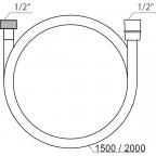 Душевой шланг Ravak SatinFlex 913.02, X07P337