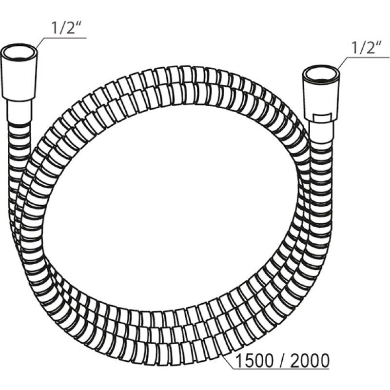 Душевой шланг Ravak 915, X07P340