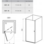 Душевая дверь Ravak Chrome CSD1-80