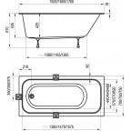 Акриловая ванна Ravak Chrome Slim, C741300000