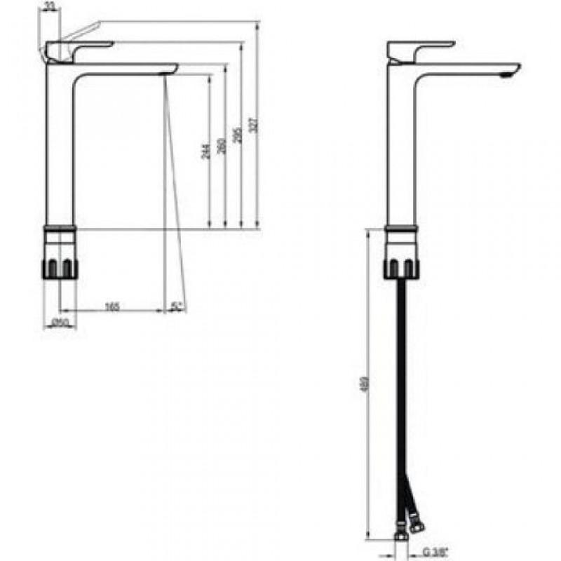 Высокий смеситель для умывальника Villeroy&Boch O.Novo 240