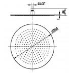Верхний душ Villeroy&Boch, универсальный 350, TVC00000300064