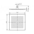 Верхний душ Villeroy&Boch, универсальный ливневый 250,  TVC00000200061