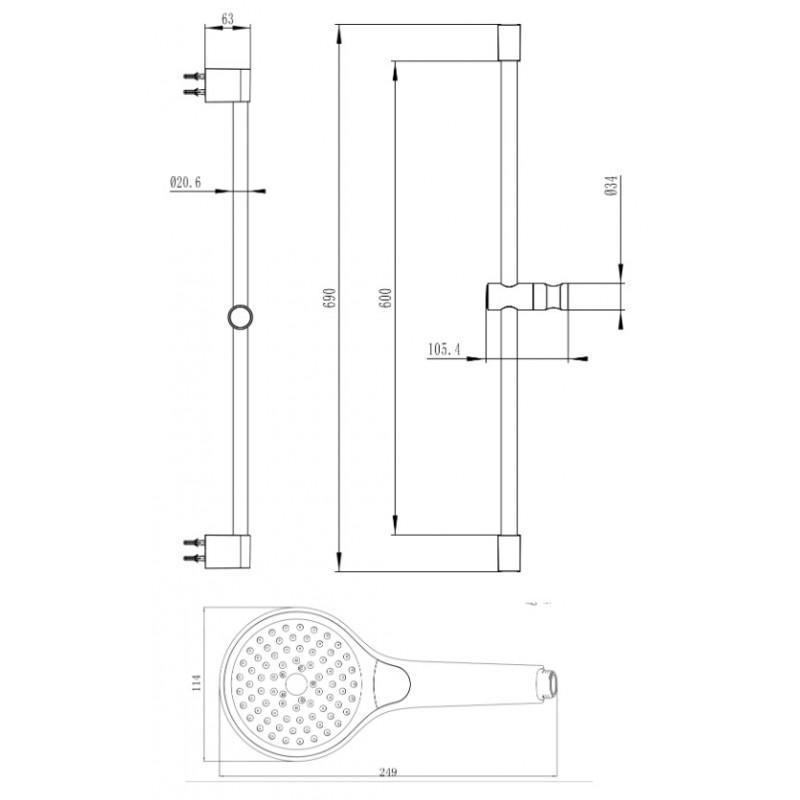 Душевой комплект Villeroy&Boch Embrace PLUS, TVS1086000361