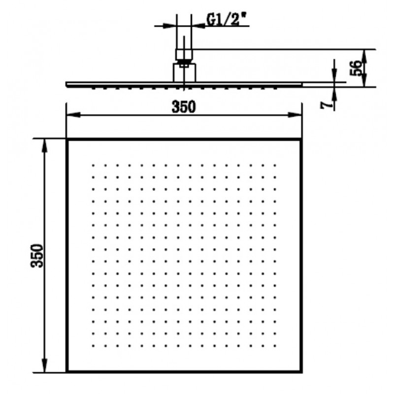 Верхний душ Villeroy&Boch Universal 350, TVC00000600061