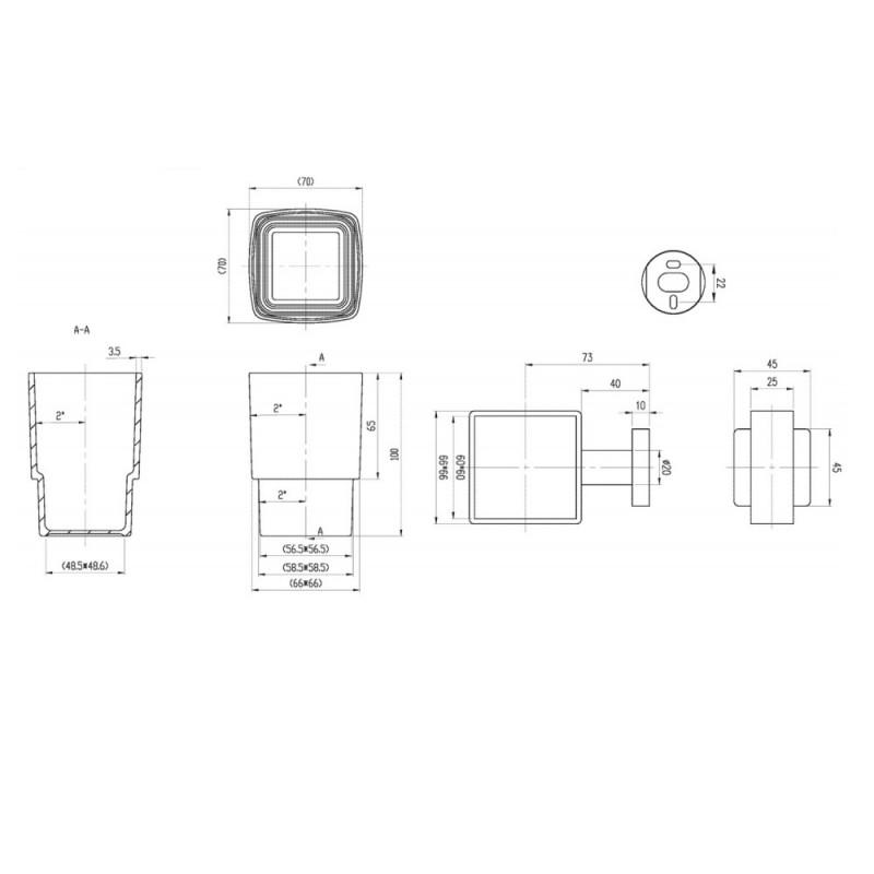 Держатель для стакана Villeroy&Boch Elements, TVA15201900061