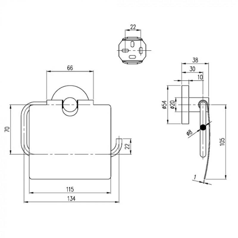 Держатель для туалетной бумаги с крышкой Villeroy&Boch Elements