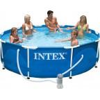 Каркасный бассейн Intex Metal Frame 305х76
