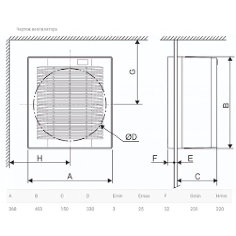 Вентилятор S&P HV-300 M Реверсивный