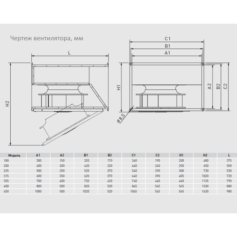 Вентилятор с загнутыми назад лопатками S&P IRT/6-400