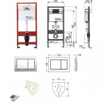 Инсталляция для унитаза TECEbase Kit 9.400.006