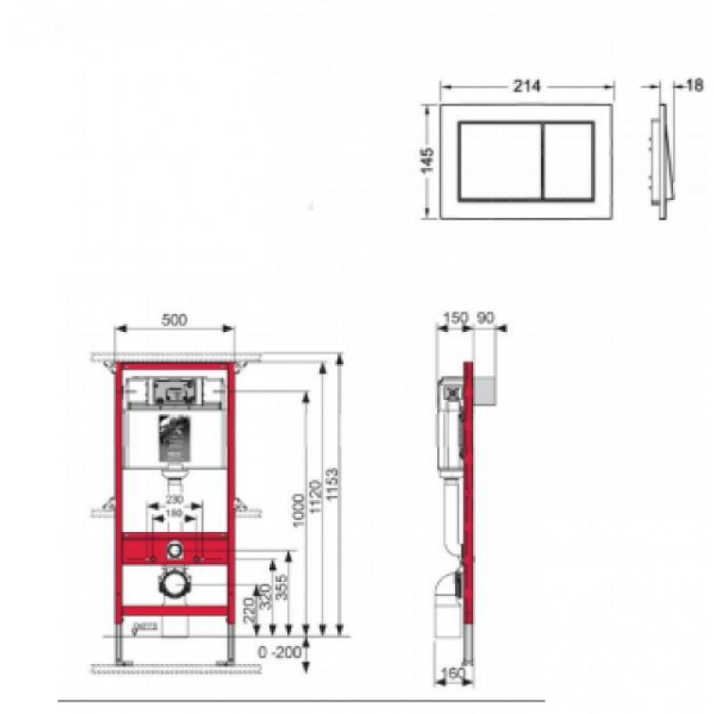 Инсталляция для унитаза TECEbase Kit  9.400.700