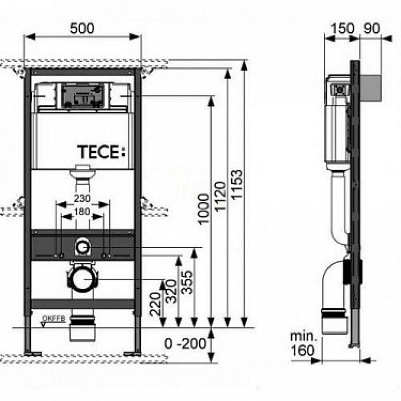 Унитаз + инсталляция  для унитаза TECE base Kit  94_S 824